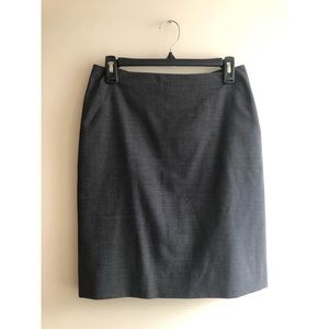 J. Crew Gray Wool Straight, Pencil Skirt